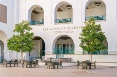 在圣地亚哥Stat校园里的李和弗兰克戈尔登伯格庭院  免版税库存图片