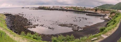 在圣地米格尔海岛上的Mosteiros在亚速尔群岛,葡萄牙 免版税库存图片