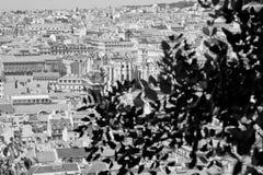 在圣地豪尔赫城堡的里斯本,葡萄牙地平线 免版税图库摄影