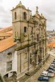 在圣地Laurenco Grilos教会的看法在波尔图-葡萄牙 免版税库存照片