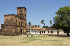 在圣地Matias教会阿尔坎塔拉巴西的奴隶颈手枷 库存图片