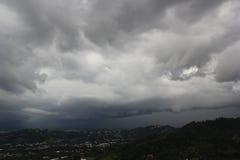 在圣塔安那上的暴风云 库存图片