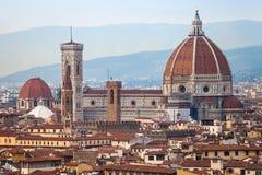 在圣塔玛丽亚上del fiore看法在佛罗伦萨 库存照片