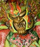 在圣多明哥狂欢节的妖怪面具  库存图片