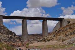 在圣安东尼奥de los Cobres附近的铁路桥。阿根廷 图库摄影