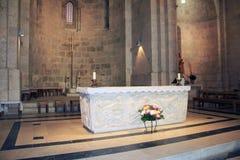 在圣安妮里面教会在耶路撒冷以色列 免版税库存照片