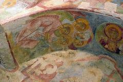 在圣尼古拉斯教会,代姆雷墙壁上的老壁画 免版税库存图片