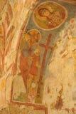 在圣尼古拉斯教会,代姆雷墙壁上的老壁画 图库摄影