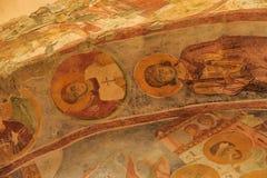 在圣尼古拉斯教会,代姆雷墙壁上的老壁画 免版税库存照片