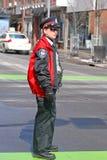 在圣帕特里克节的渥太华警察游行渥太华,加拿大 免版税库存照片