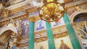 在圣徒以撒` s大教堂里面 股票录像