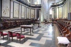 在圣徒里面Bavo大教堂  免版税库存图片