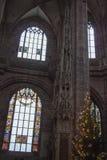 在圣徒洛伦茨教会里面 纽伦堡 德国 库存照片