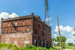 在圣徒Lious, MO的被放弃的大厦 库存图片