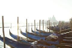 在圣徒Marco广场的长平底船码头 免版税库存照片