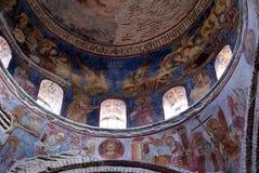 在圣徒sophia里面的圆顶 免版税库存图片