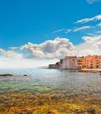在圣徒Tropez,法国的老大厦 免版税库存照片