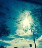 在圣托马斯美属维尔京群岛的明亮的蓝天 图库摄影
