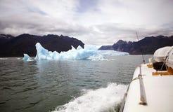 在圣拉斐尔盐水湖的冰山,巴塔哥尼亚,智利 免版税库存照片