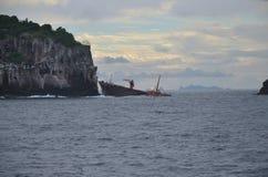 在圣文森特附近的加勒比船击毁 免版税图库摄影