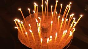 在圣洁坟墓的圣洁火在耶路撒冷 股票视频