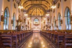 在圣洁念珠教会里面,曼谷,泰国 图库摄影