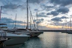 在圣温琴佐港, Marina di圣温琴佐,托斯卡纳,意大利 图库摄影