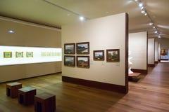 在圣特尔莫博物馆内部的艺术图片在圣塞瓦斯蒂安 免版税库存照片