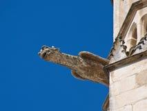 在圣玛丽亚大教堂的面貌古怪的人在布尔戈斯,西班牙 库存照片