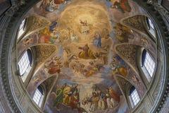 在圣玛丽亚degli Angeli e dei Martiri大教堂的壁画  免版税库存照片