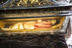 在圣玛丽亚Maggiori大教堂的坟茔在罗马意大利 免版税图库摄影