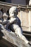 在圣玛丽大教堂少校的天使雕象在罗马 免版税库存图片