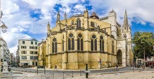 在圣玛丽大教堂的看法在比亚利兹 图库摄影