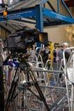 在圣玛丽的医院的电视摄象机 库存图片