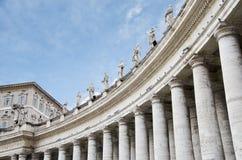 在圣皮特圣徒・彼得的广场的Columnata 免版税库存图片
