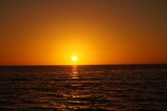 在圣皮特海滩,佛罗里达的日落 库存图片