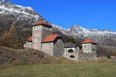 在圣盛生附近的Silvaplana城堡 图库摄影