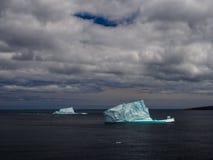 在圣约翰` s附近的冰山 库存照片