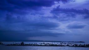 在圣胡安海湾  图库摄影