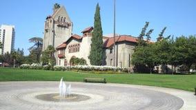 在圣荷西州立大学的塔霍尔和华盛顿广场 影视素材