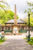 在圣菲广场,新墨西哥的纪念碑 图库摄影