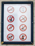 在圣詹姆斯大教堂的标志 以色列耶路撒冷 免版税库存图片