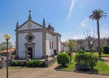 在圣詹姆斯方式卡米诺葡萄牙肋的途中的教会在葡萄牙 免版税库存照片