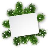 在圣诞前夕分支的白皮书卡片。 皇族释放例证