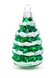 在圣诞树玩具的装饰以圣诞树的形式 免版税库存照片