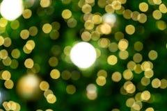 在圣诞树的光 库存图片