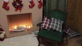 在圣诞树的圣诞节装饰 影视素材