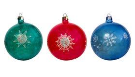 在圣诞树的多彩多姿的球 免版税库存图片