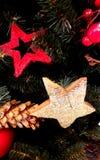 在圣诞树的星 库存图片