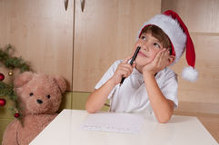 在圣诞老人上写字 免版税库存图片